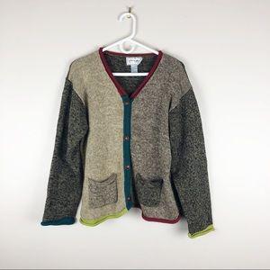 Mia Nola V-neck Cardigan Cotton Multicolor Pockets